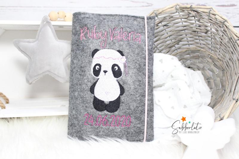 U-Heft-Hülle Boho-Panda