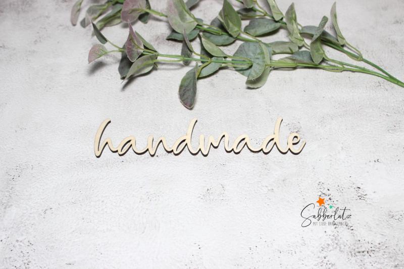 Schriftzug handmade